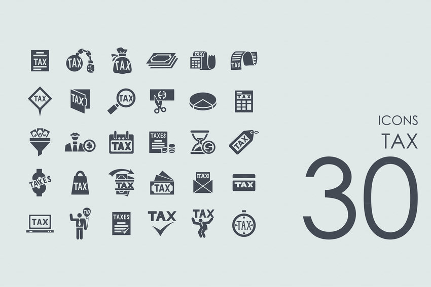 tax vector set of modern simple icons