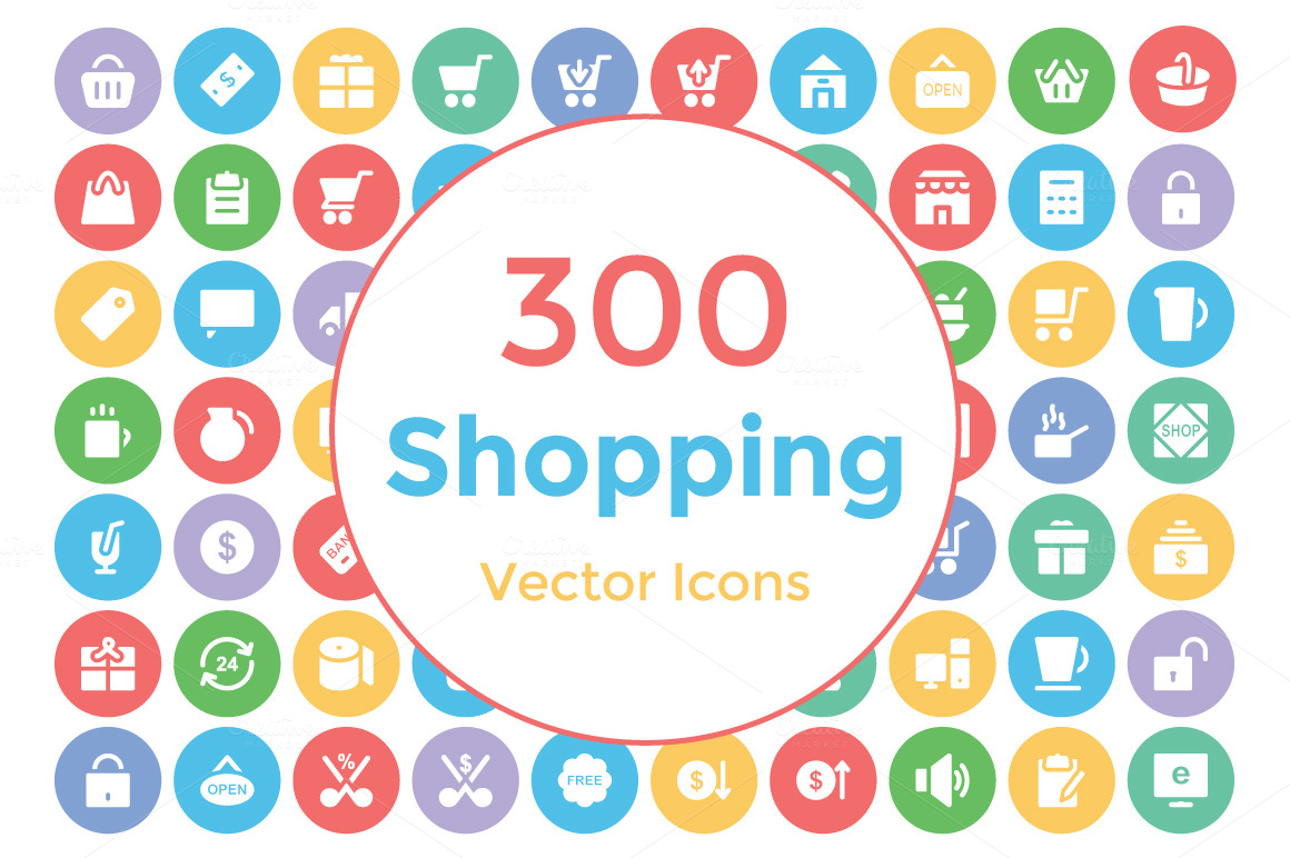 300-Shopping-Vector-Icons