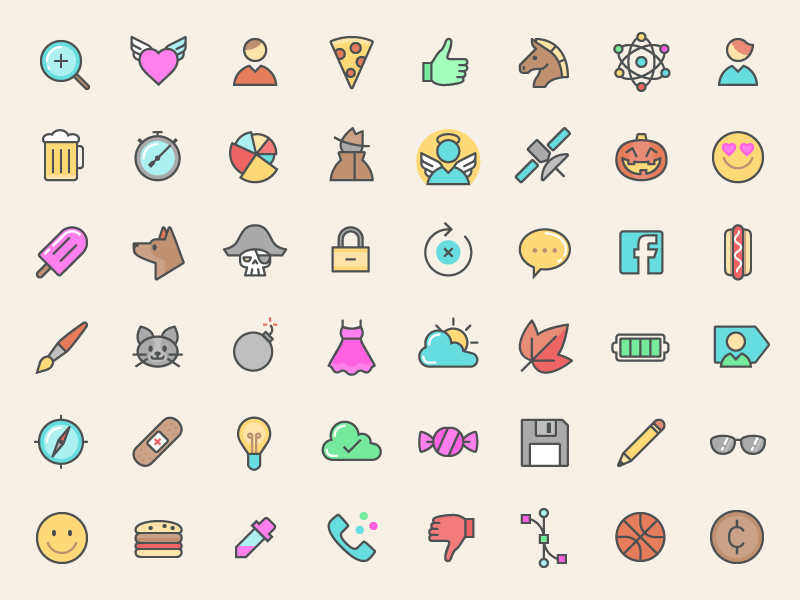 500-FREE-Colored-Line-Icons