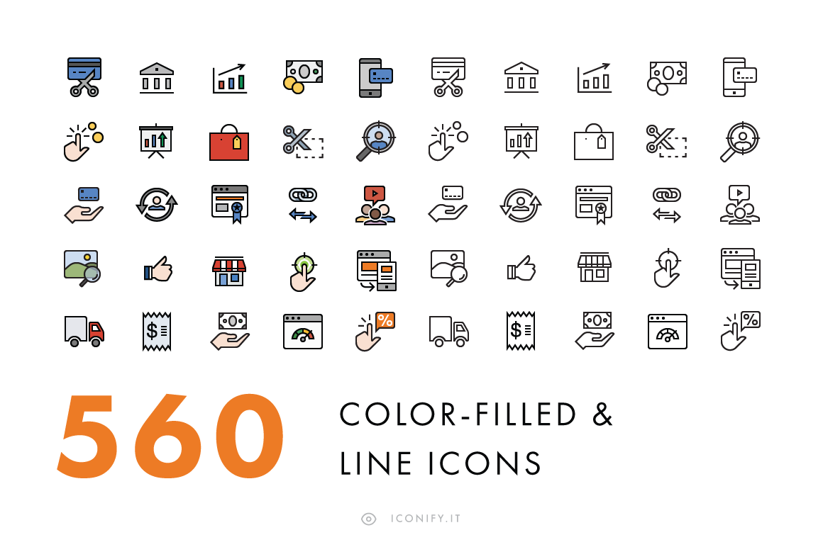 560-Line-Filled-Line-Icons