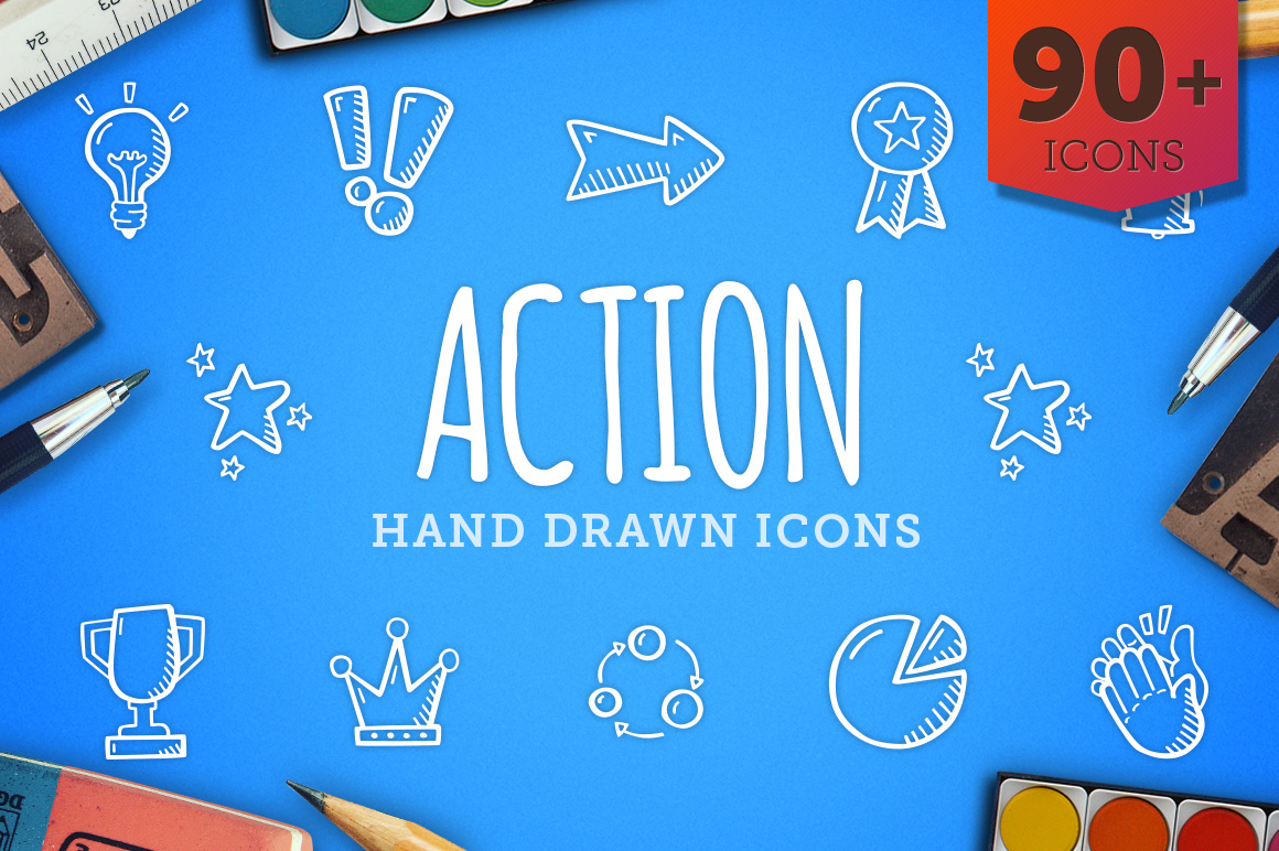 Action-Hand-Drawn-Icons