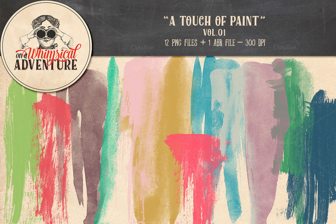 Brushes-A-Touch-of-Paint-Vol01