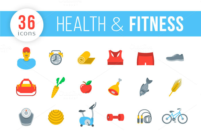 Fitness-and-Healthy-Lifestyle-Icons