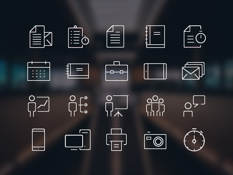 Free-Office-Icons-Set