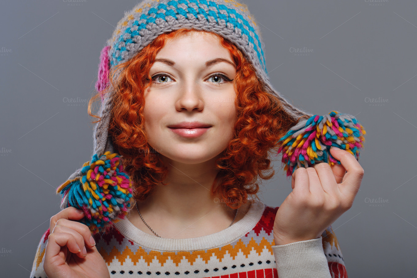Girl-in-knitted-cap