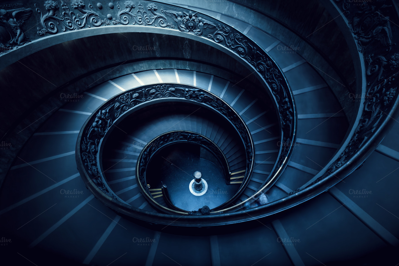 Long-spiral-winding-stairs