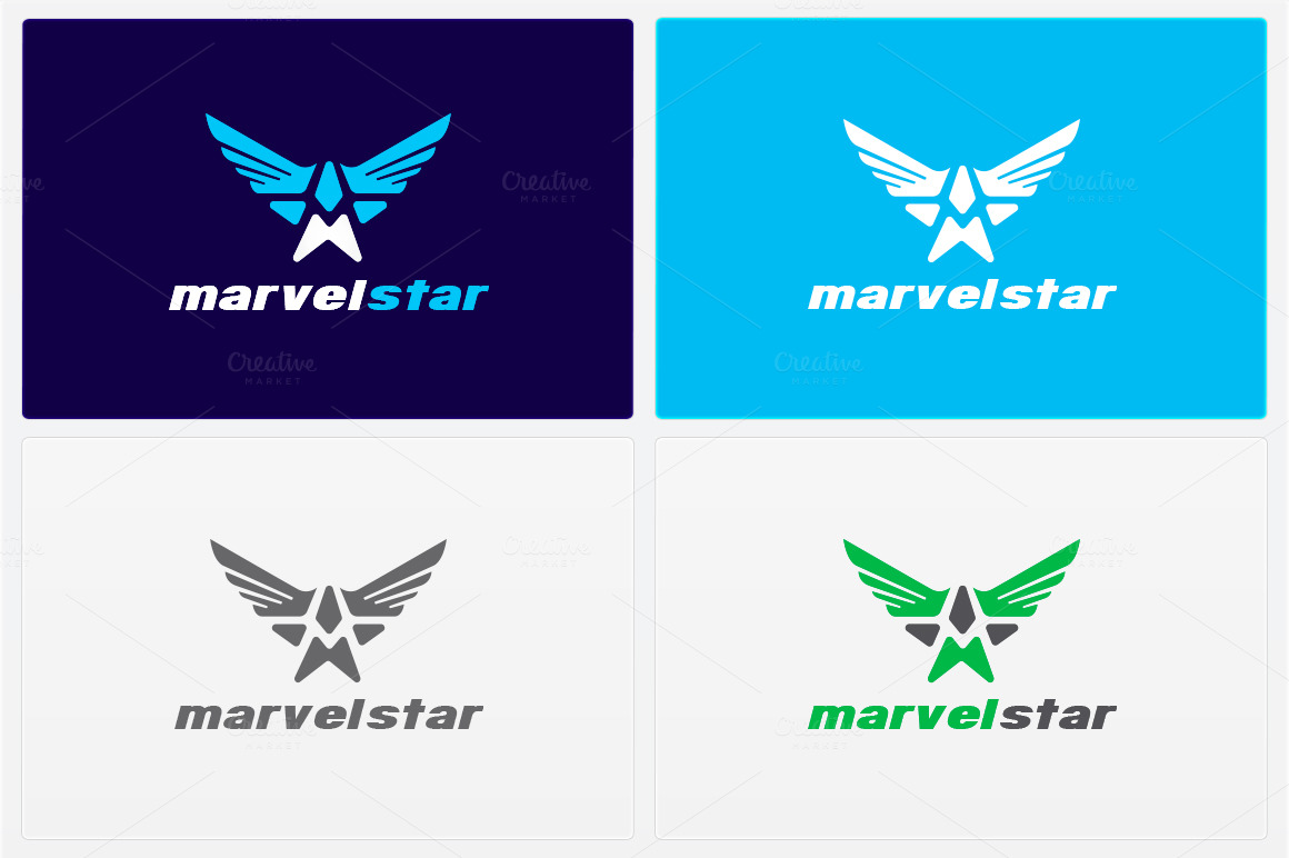 Marvel-Star-Logo-Template