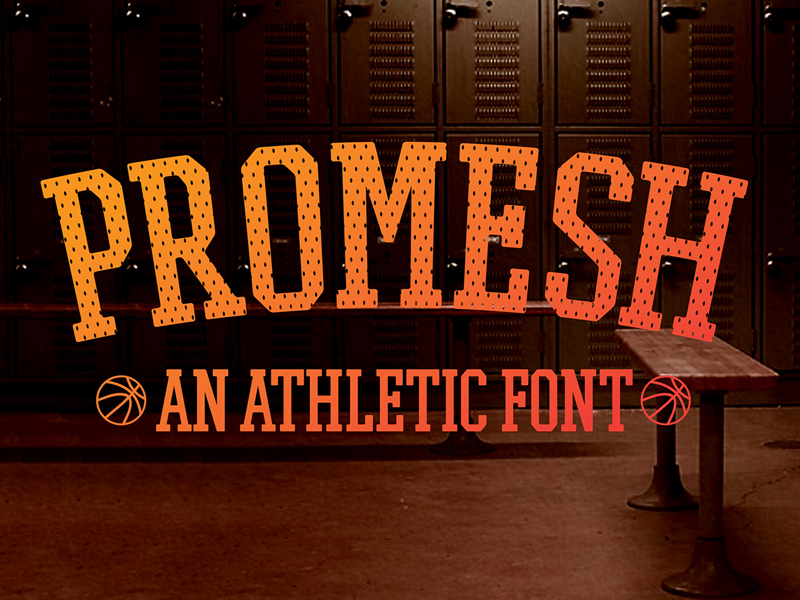 Promesh-A-FREE-Athletic-Font