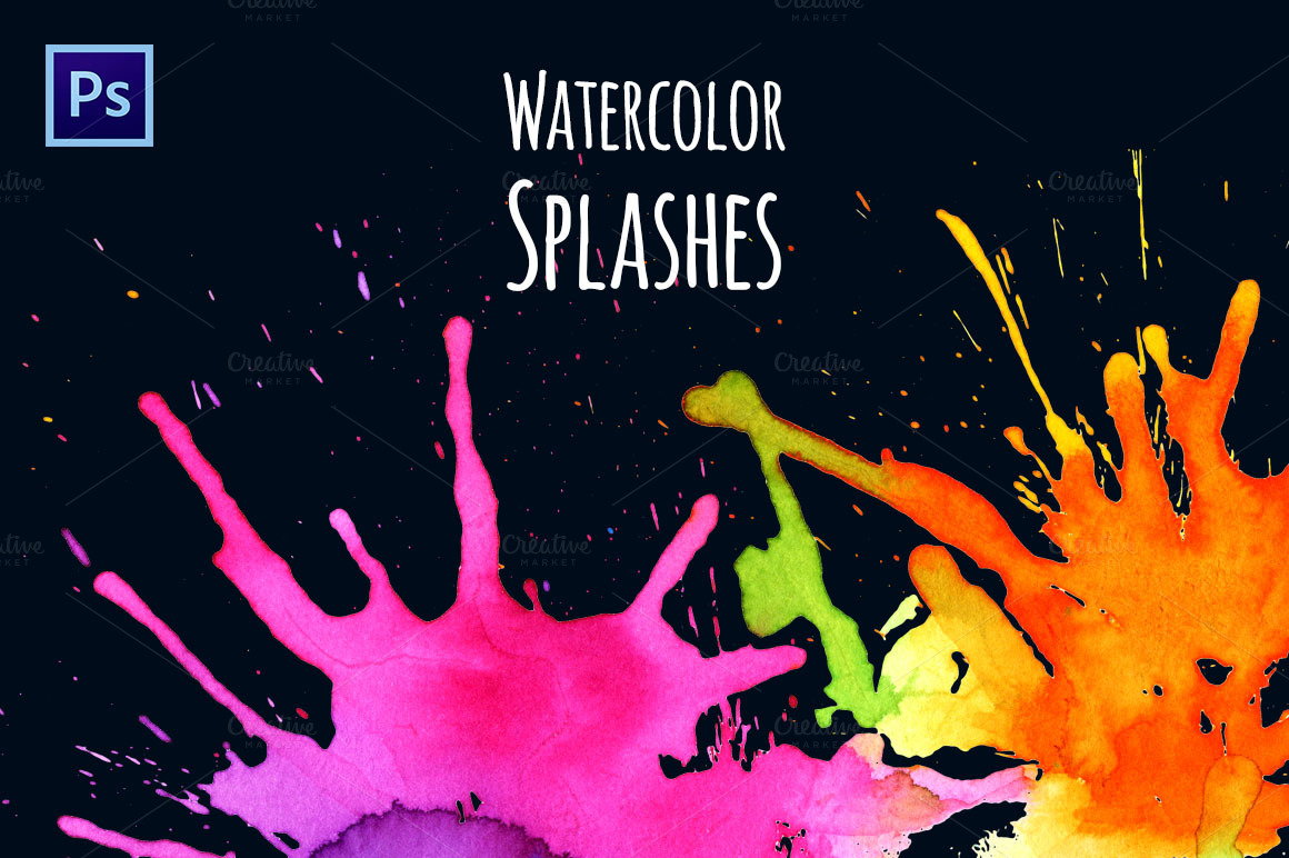Watercolor-Splash-Brushes
