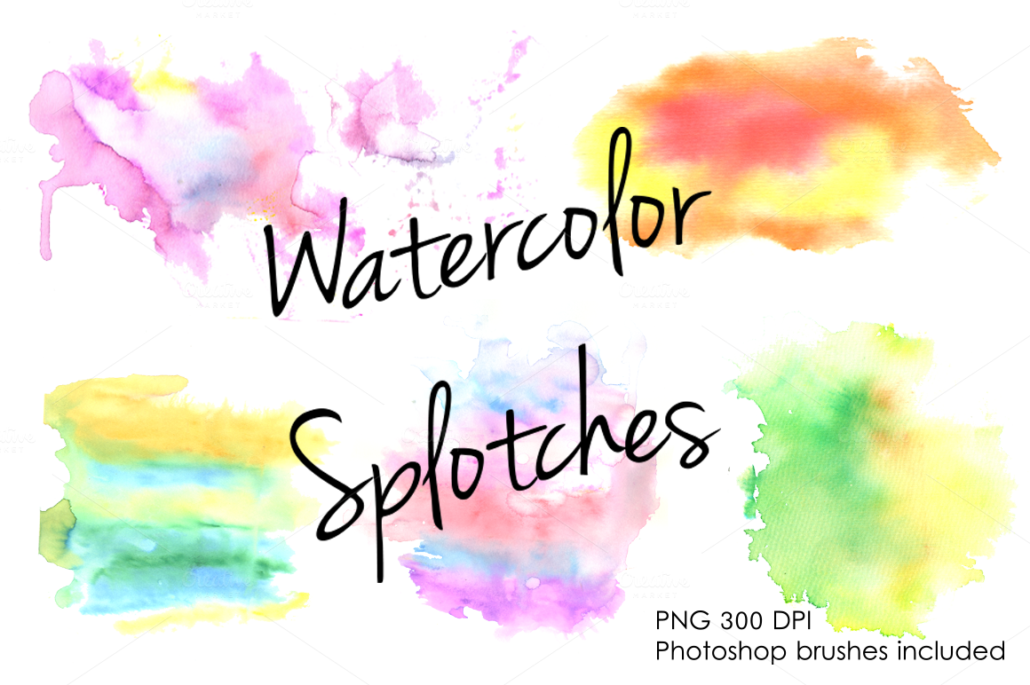 Watercolor-splotches-clipart-set