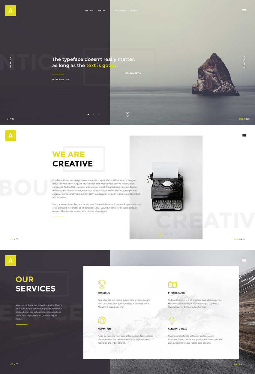 antica-multipurpose-business-agencypersonal-portfolio-psd-template-2