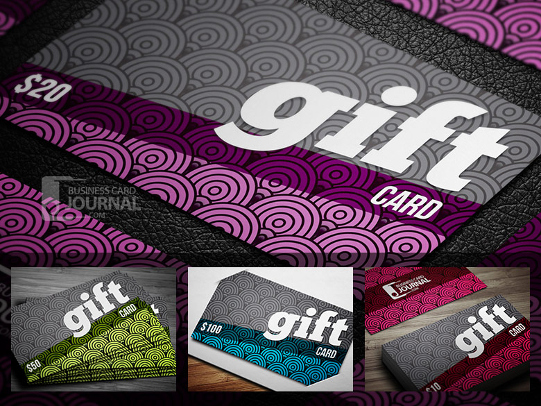25 creative gift voucher card templates designazure creative fancy gift card template in 4 color price free yadclub Images