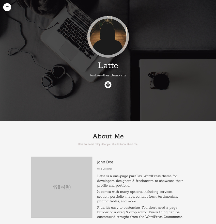 latte-free-portfolio-wordpress-theme-1