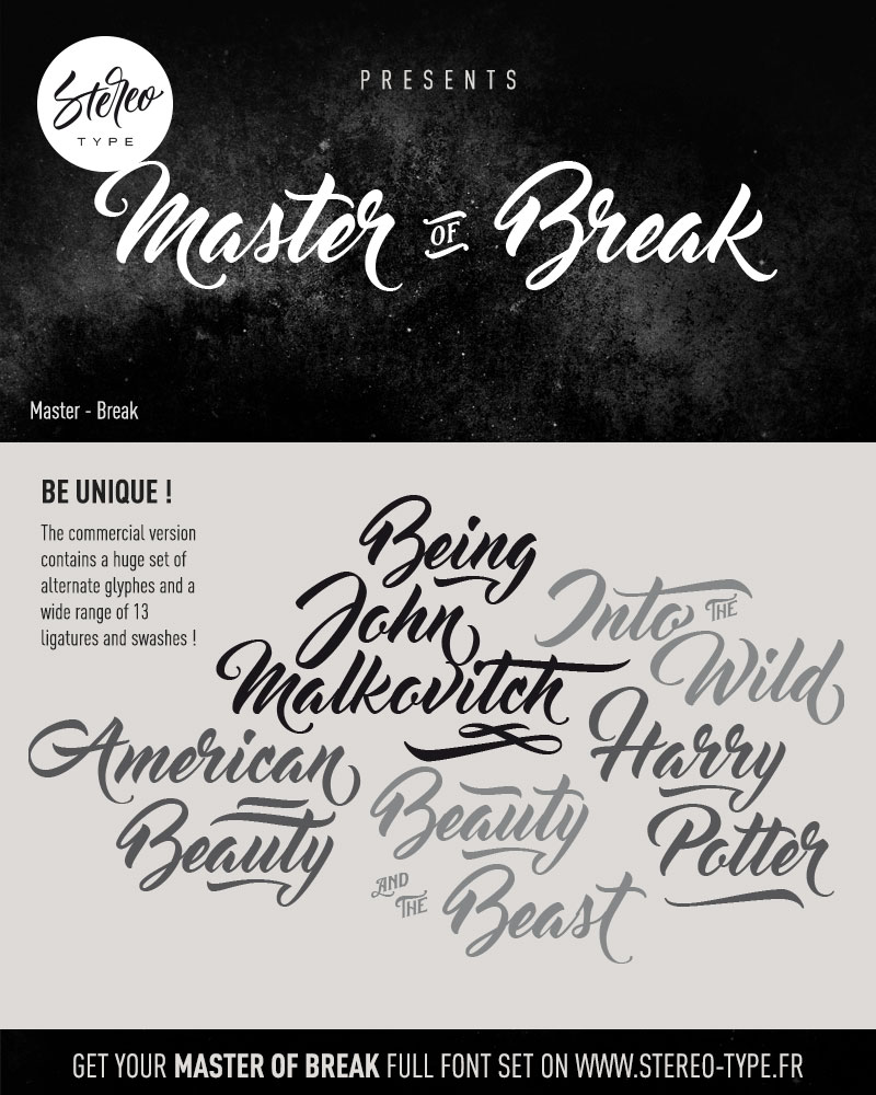 master-of-break-font