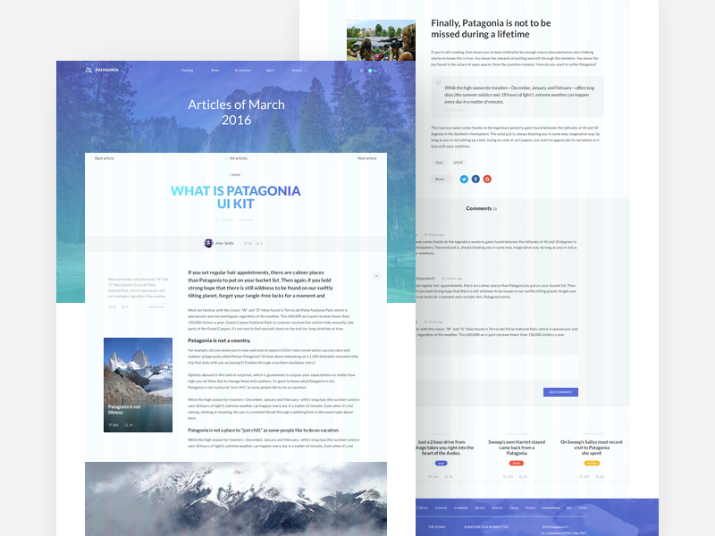 patagonia-website-template-freebie
