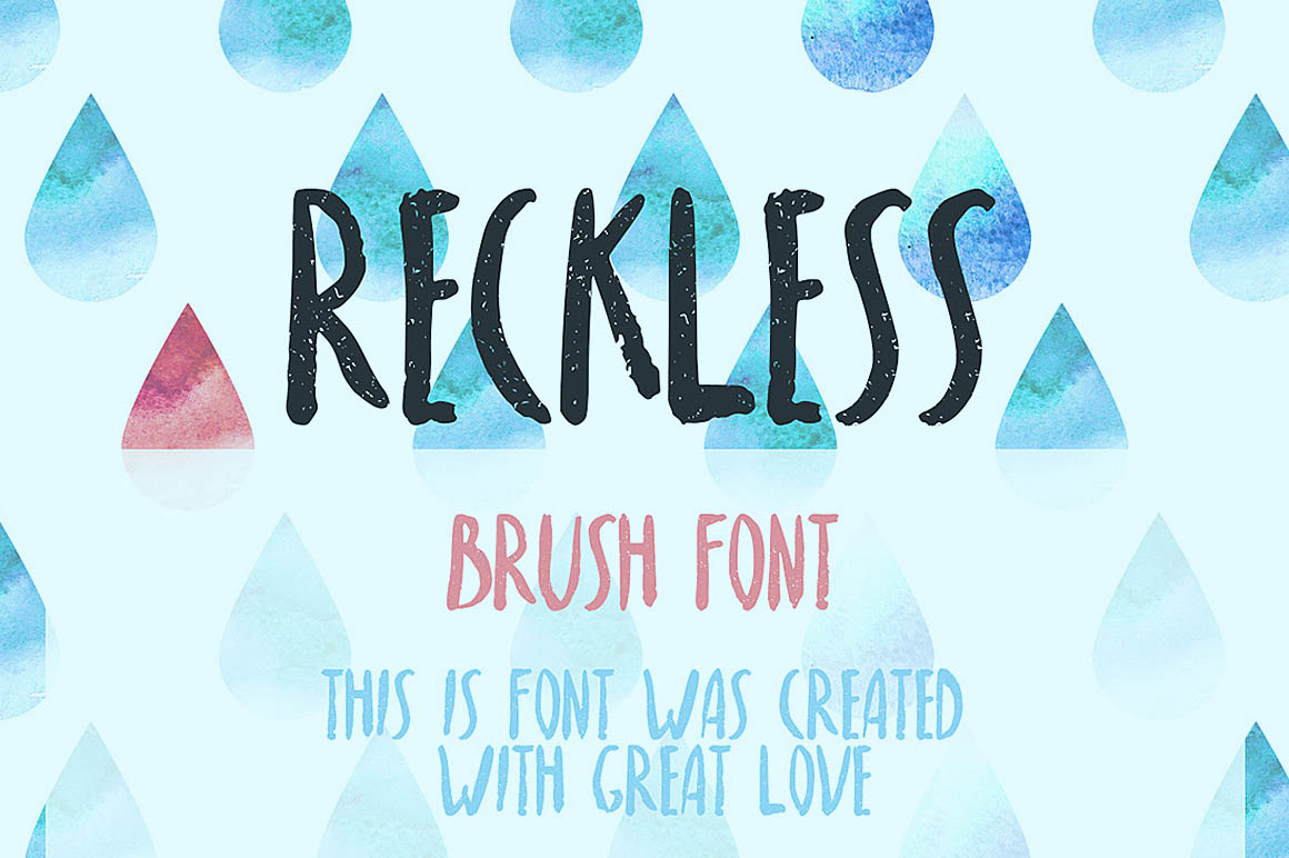 reckless-free-brush-font