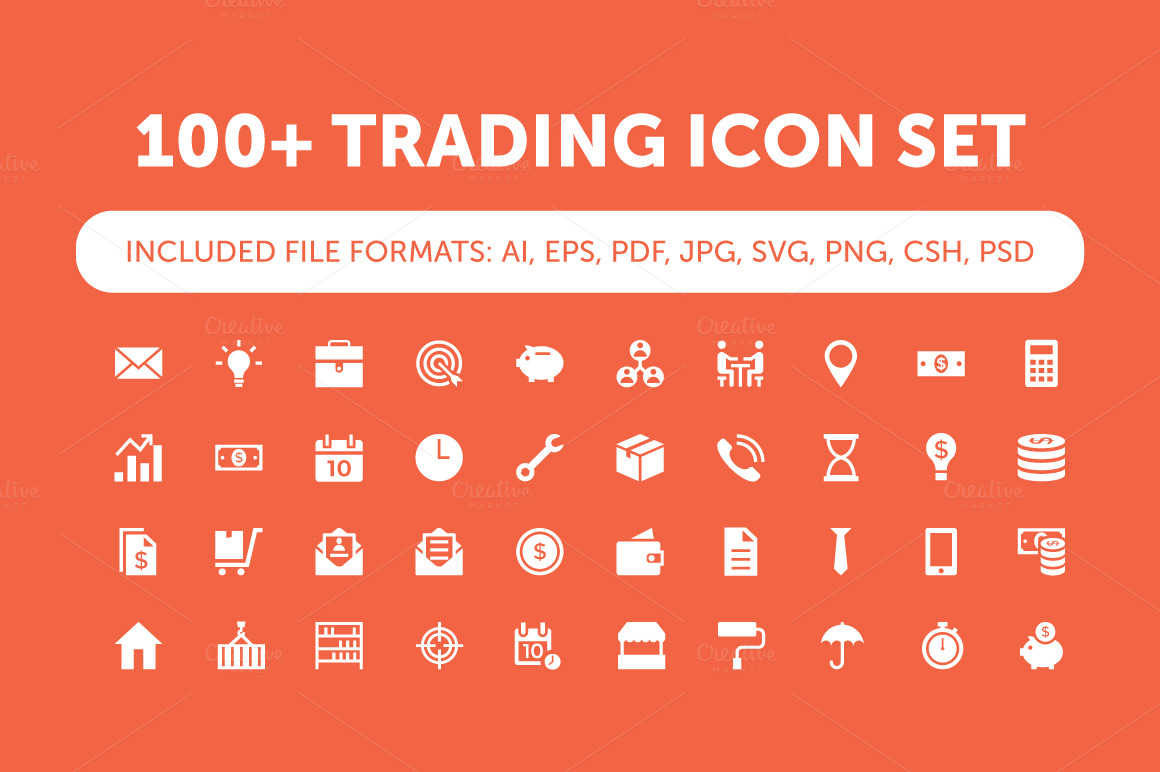 100-Trading-Vector-Icons