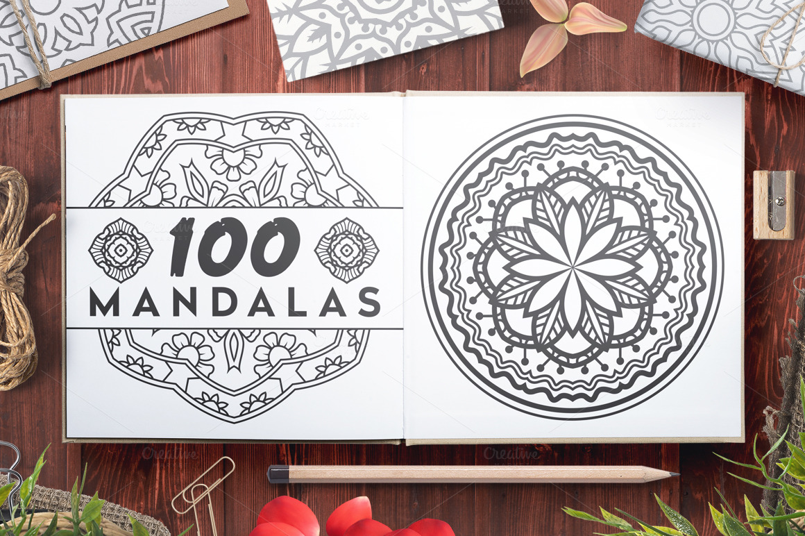 100-Vector-Mandala-Ornaments