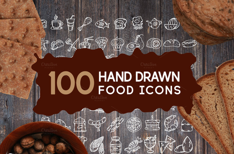 100-food-icons-hand-drawn-bundle-2