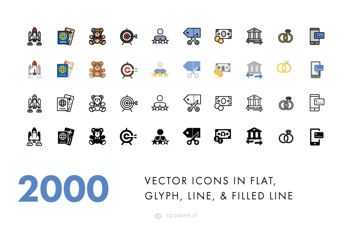 2000-Icons-in-Four-Styles