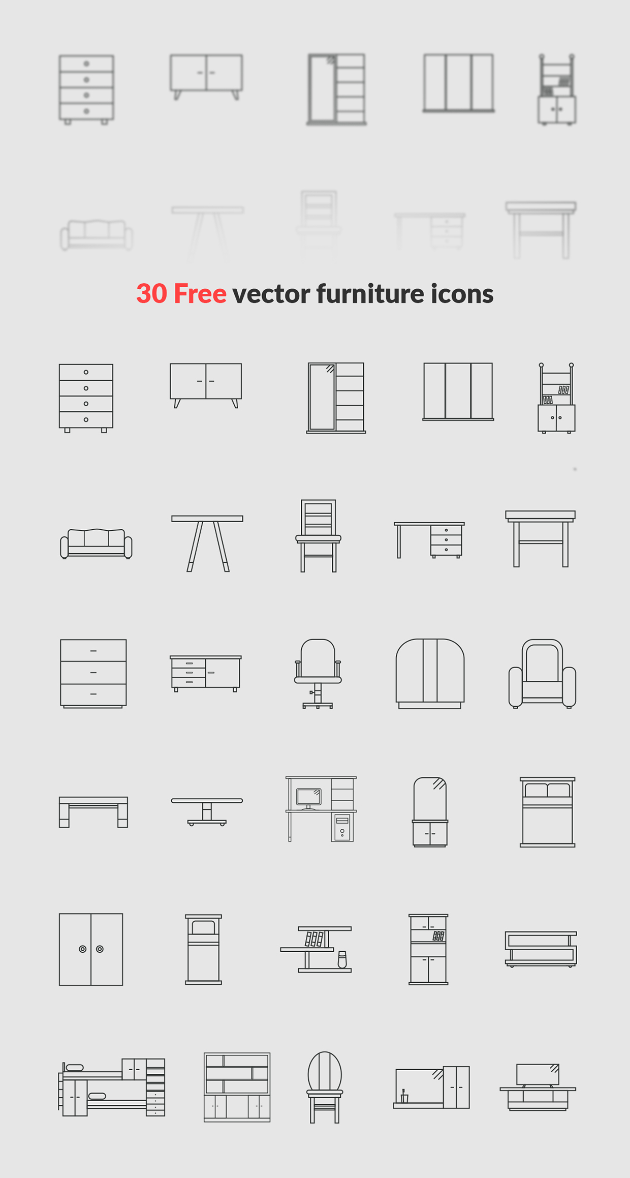30-Free-vector-furniture-icons