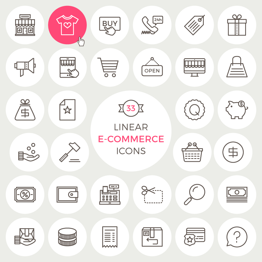 33-free-linear-e-commerce-icons