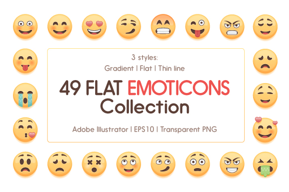 49-Cute-Emoticons-Collection