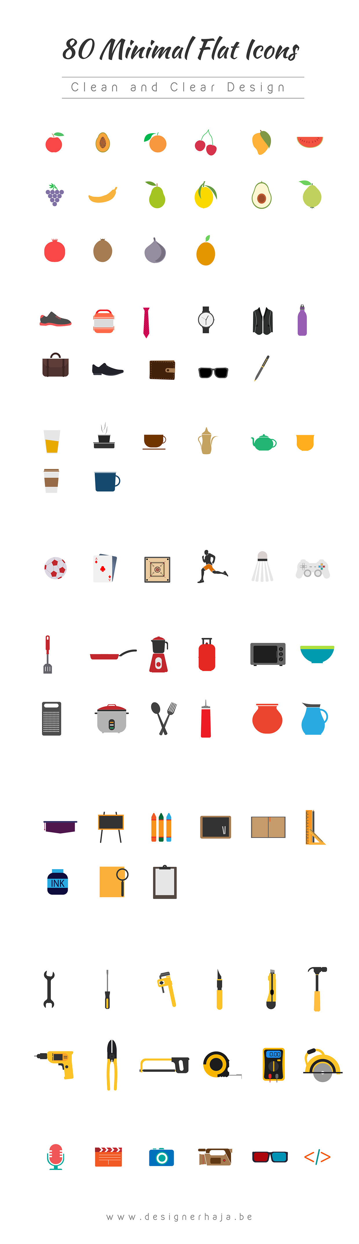 80-Minimal-Flat-Icons-Download