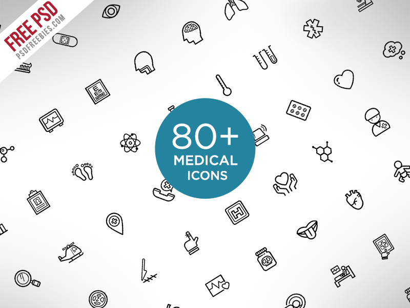 Medical-And-Science-Outline-Icon-Set-Free-PSD