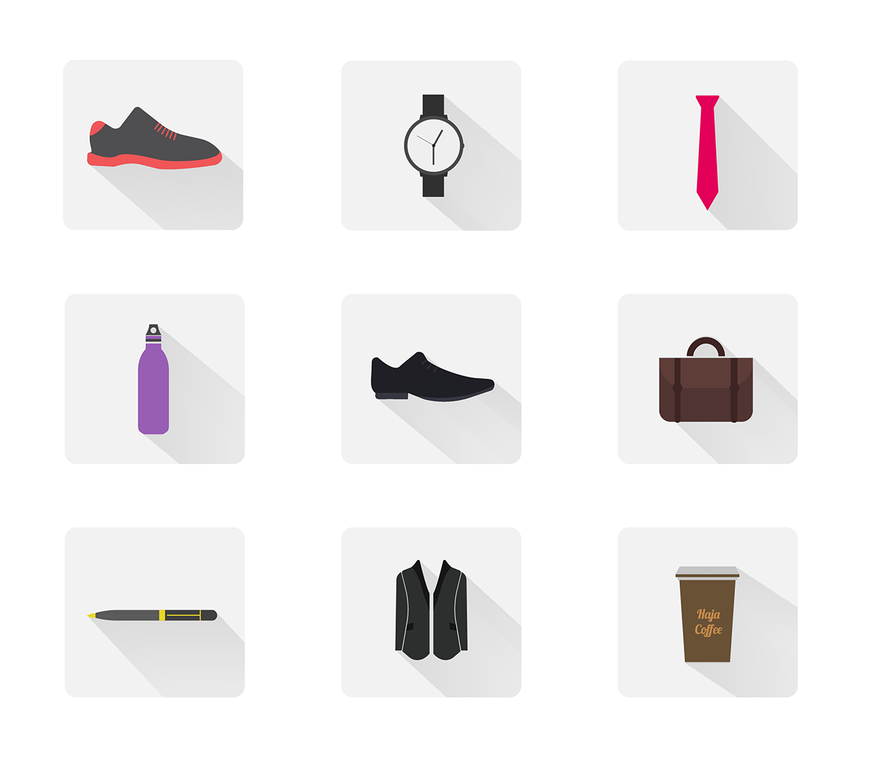 Office-Accessories-Minimal-Flat-Icons
