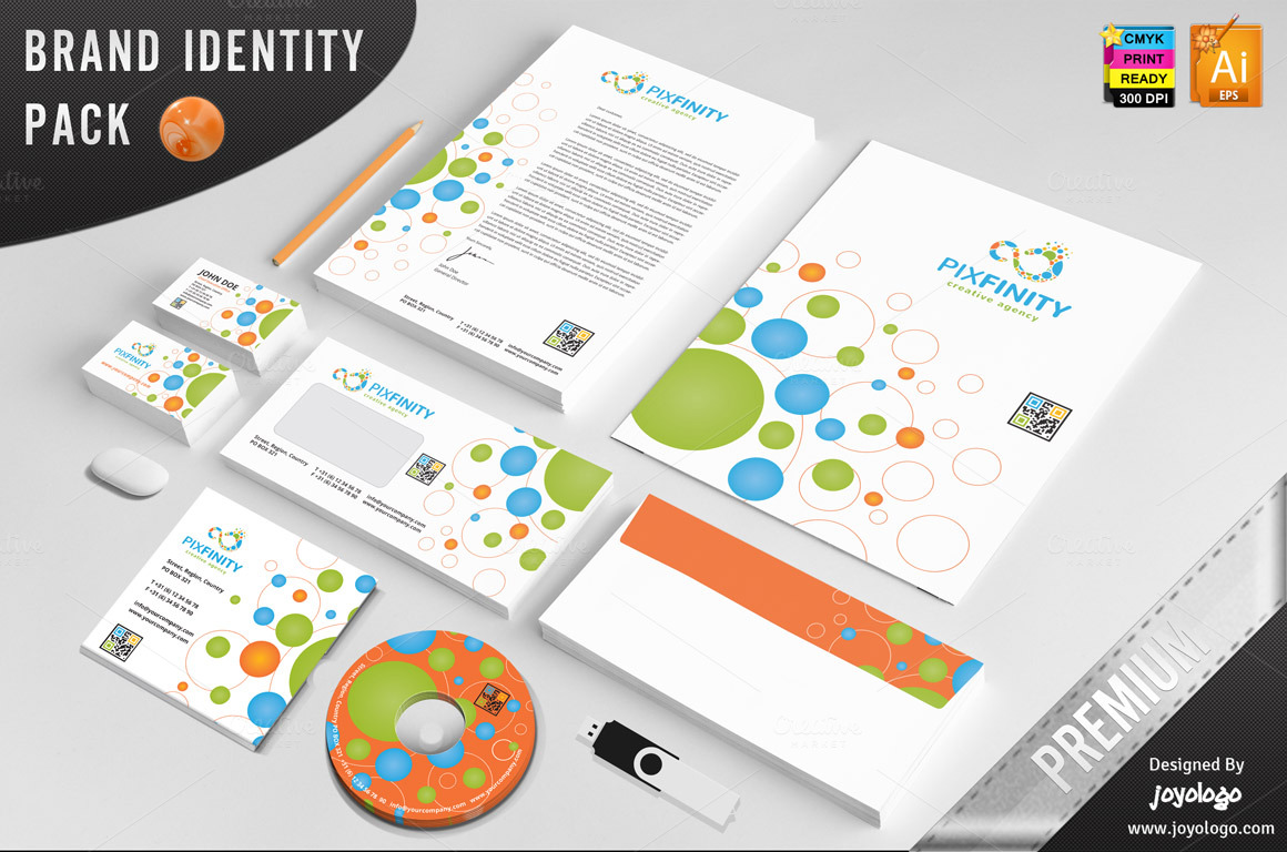 Pixel-Dots-Infinity-Identity-Template