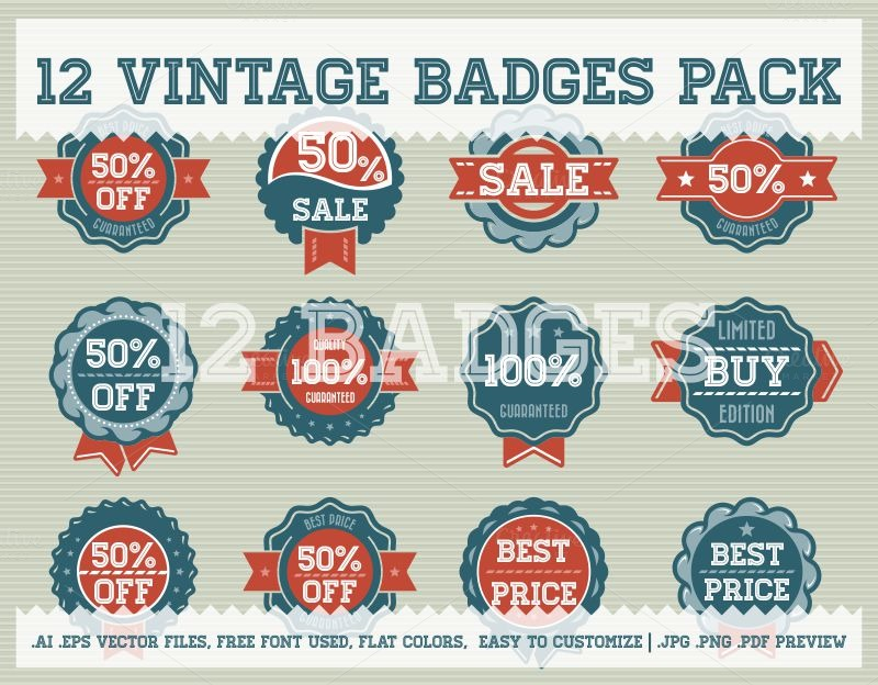 Vintage-Badge-Pack