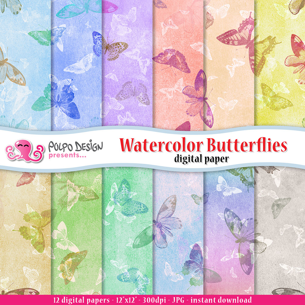 Watercolor-Butterflies-digital-papers