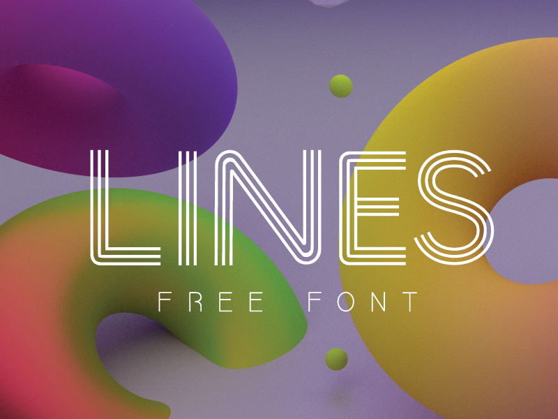 lines-free-font