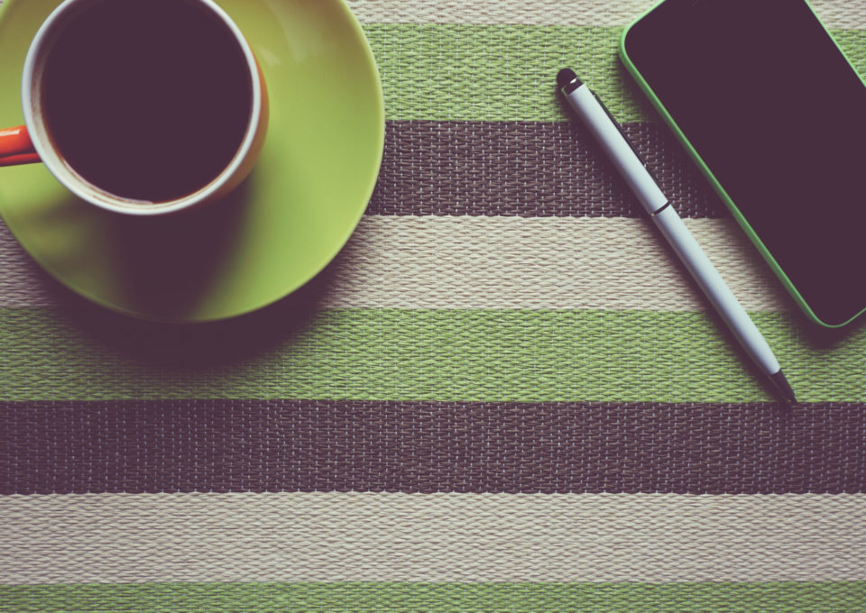 pen-coffee-phone-cup