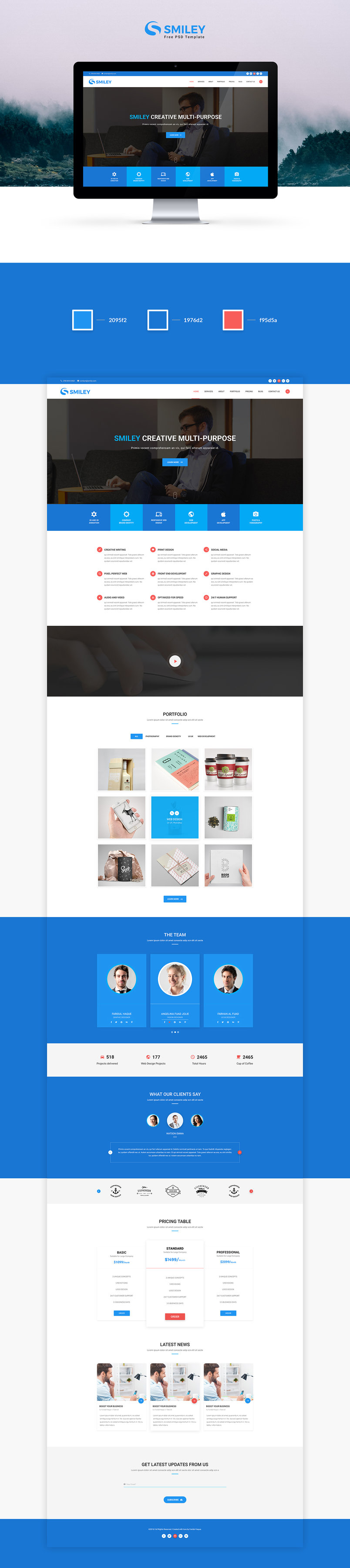 smiley-free-material-design-psd-template-2