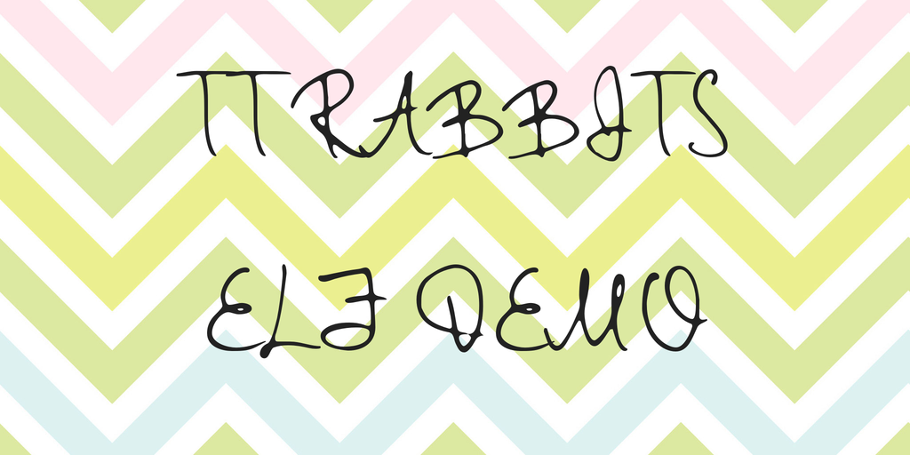 tt-rabbits-elf-demo-font