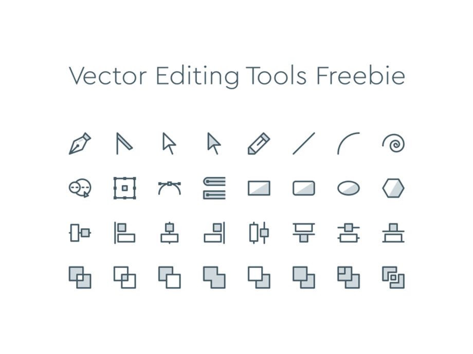 Free Icons For Web Design 33: online vector editor
