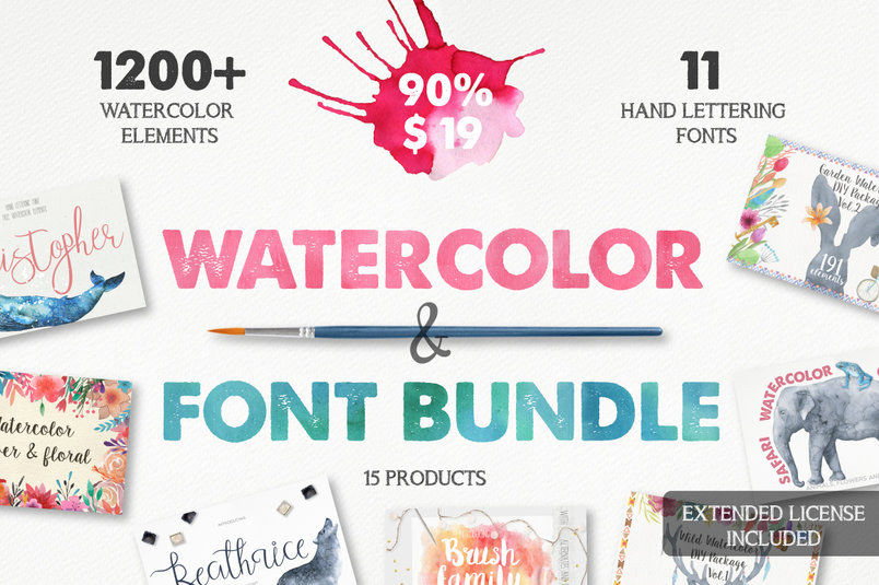watercolor-font-bundle-2