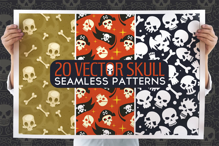 20-skull-seamless-vector-patterns