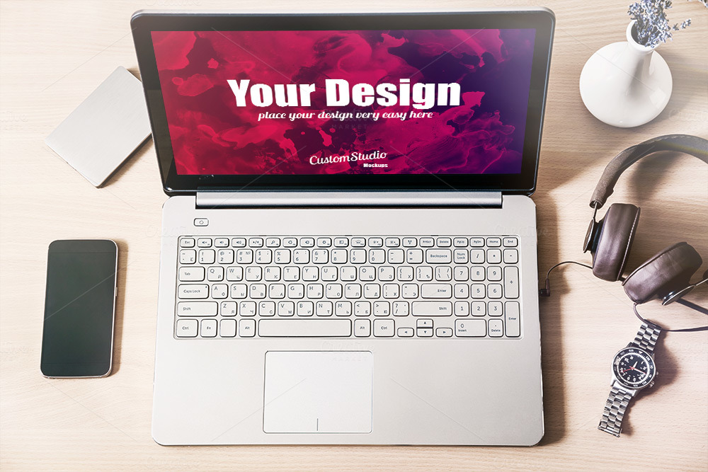 Laptop-PSD-Mockup-Workspace