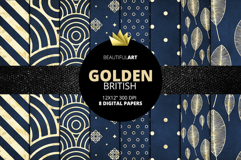 blue-golden-british-digital-papers-2