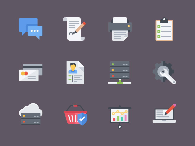 colorful-flat-icons-freebie