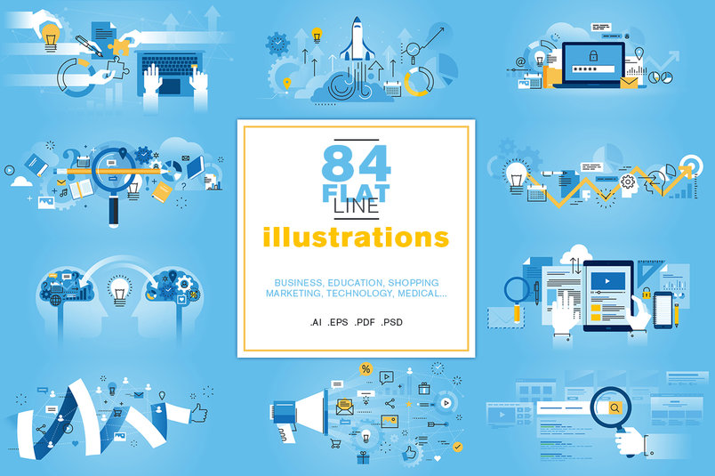 flat-line-illustrations-bundle-2