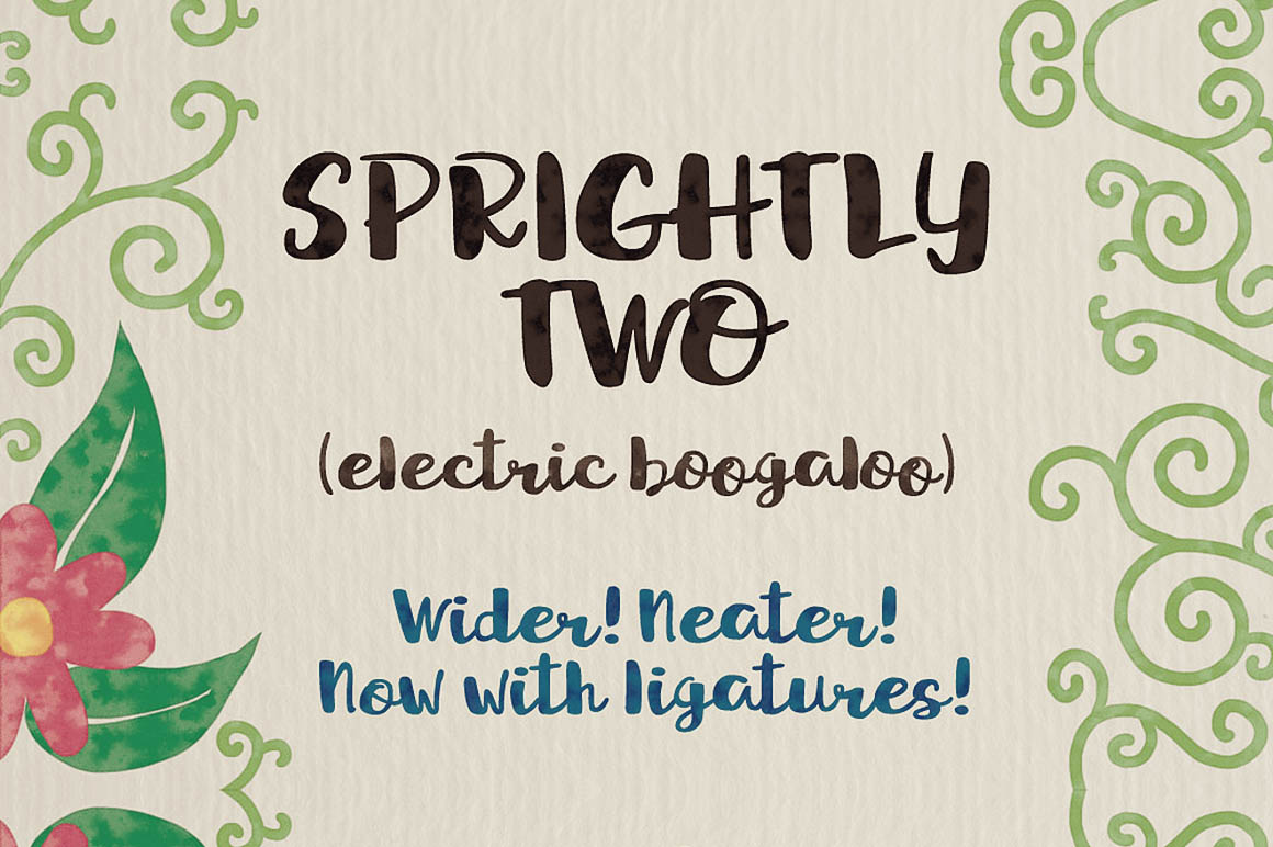 sprightly-two-free-brush-font