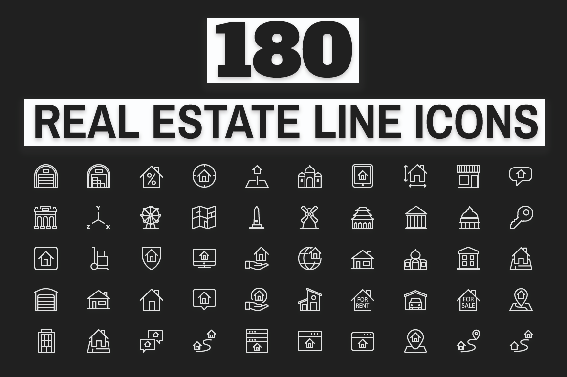 180-Real-Estate-Icons