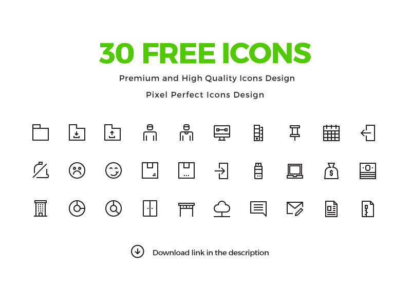 30-Free-Pixel-Perfect-Icons