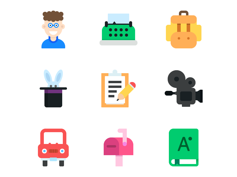 9-free-colourful-flat-icons-psd