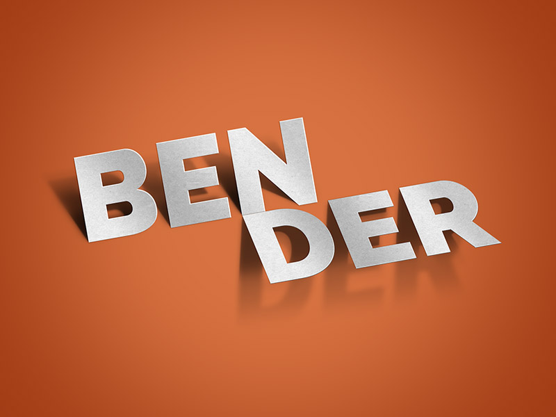 Bender-Text-Effect-PSD