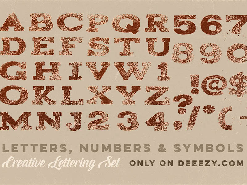 Cocoa-Free-PNG-Lettering-Set